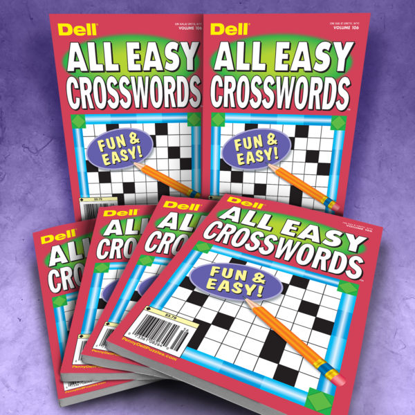 Dell All Easy Crosswords Puzzle Magazine Bundle