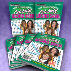 Penny Press Spotlight Celebrity Word Seek Puzzle Magazine Bundle