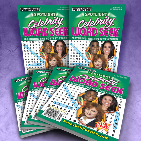Penny Press Spotlight Celebrity Word Seek Puzzle Magazine Bundle