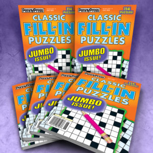 Penny Press Classic Fill In Puzzles Magazine Bundle