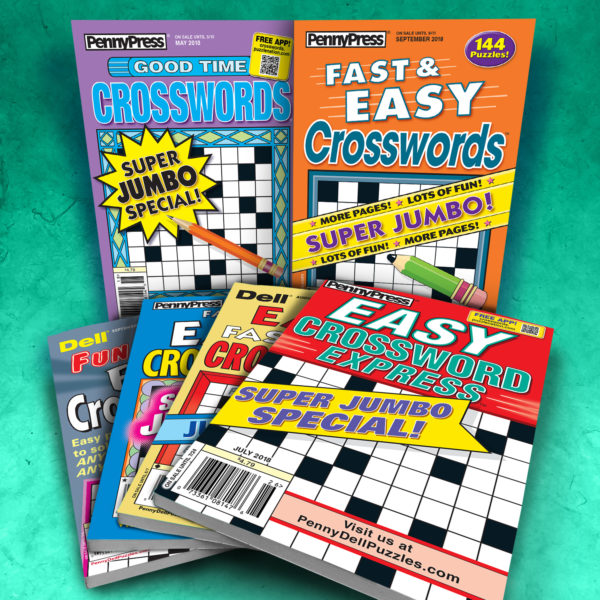 Penny Press Dell Crossword Magazine Pack