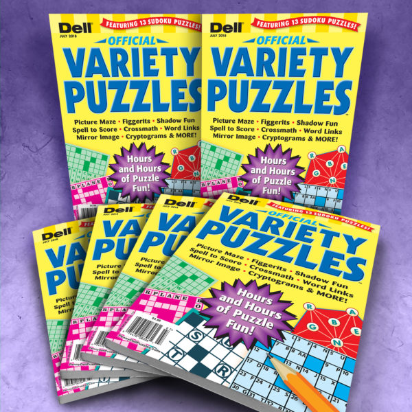 Dell Official Variety Puzzles Magazine Bundle