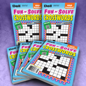 Dell Fun to Solve Crosswords Puzzles Magazine Bundle Easy and Medium
