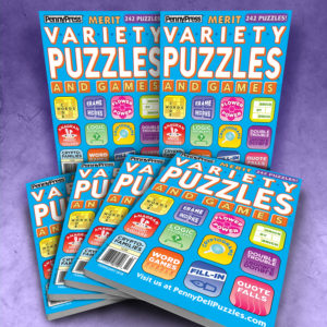 Penny Press Merit Variety Puzzles and Games Magazine Bundle