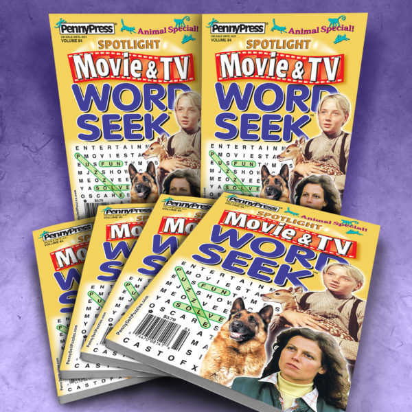 Penny Press Spotlight Movie & TV Word Seek Magazine Bundle