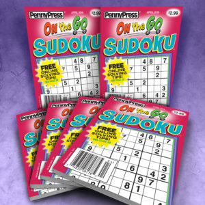 Penny Press On the Go Sudoku Pocket Sized Magazine Bundle