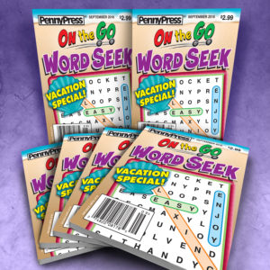 Penny Press On the Go Word Seek Pocket Sized Magazine Bundle