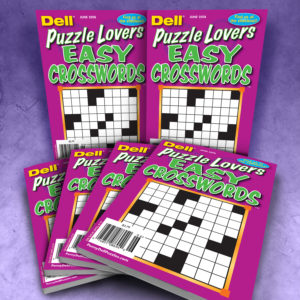 Dell Puzzle Lovers Easy Crosswords Magazine Bundle
