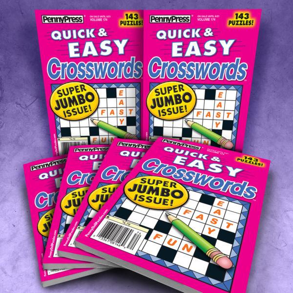 Penny Press Quick & Easy Crosswords Magazine Bundle