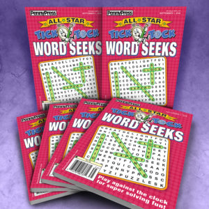 Penny Press All Star Tick Tock Word Seek Magazine Bundle
