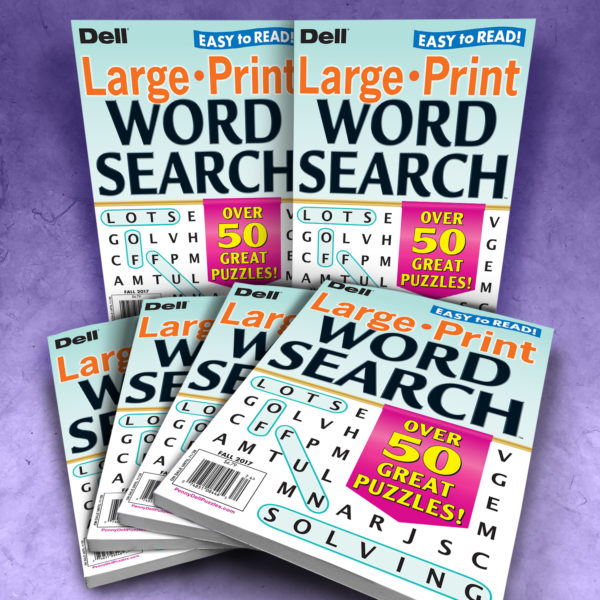 Dell Large Print Word Search Magazine Bundle