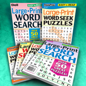 Penny Press Dell Large Print Word Seek/Search Magazine Pack