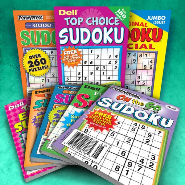 Penny Press Dell Sudoku Magazine Pack