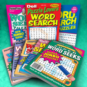 Penny Press Dell Word Seek/Search Magazine Pack