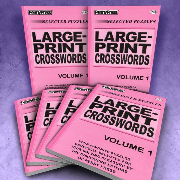 Penny Press Large Print Crosswords Volume 1