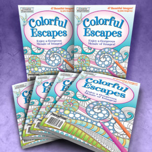 Colorful Escapes Adult Coloring Book Volume 9